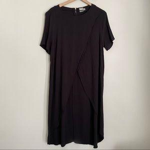 ASOS black asymmetric hi-low hem tunic